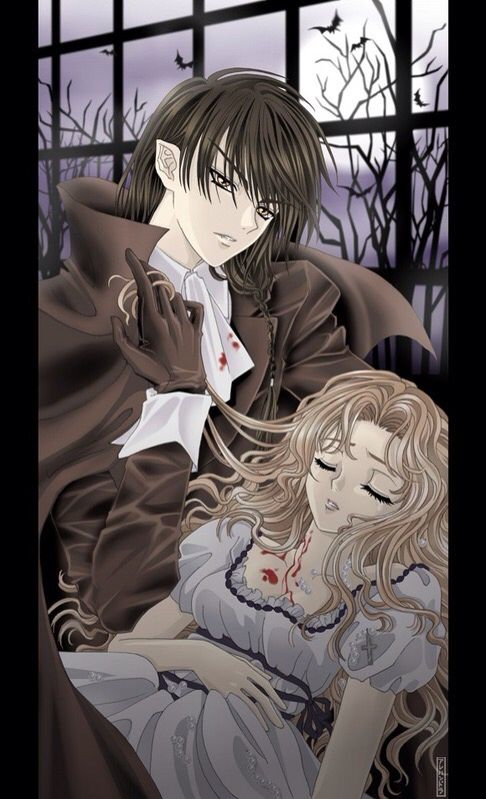 Anime Vampire Boy With Anime Blonde Human Girl Vampire Boy Vampire Knight Yuki Anime Prince