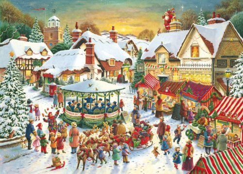 The Christmas Market - Ravensburger 1000 Piece Jigsaw Puzzle: Amazon.co.uk: Toys & Games
