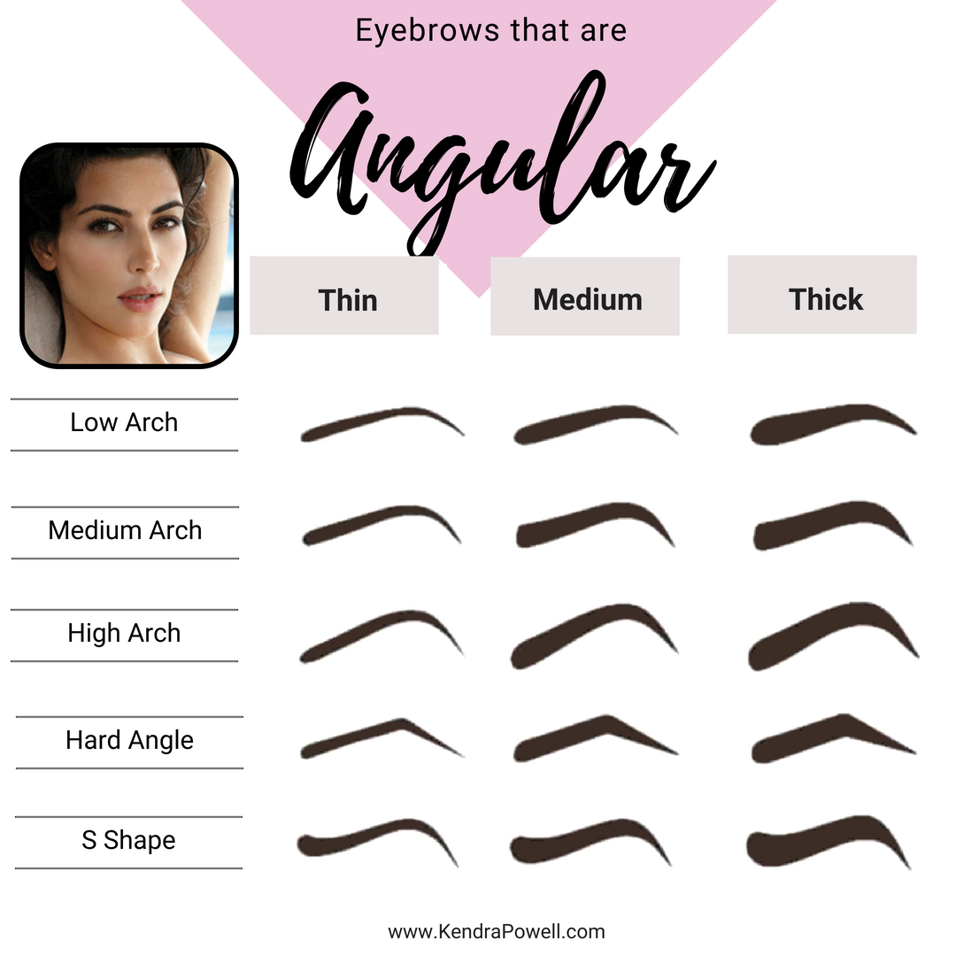 Eyebrow Shapes Angular Arched Eyebrows Eyebrowsthicker Eyebrows