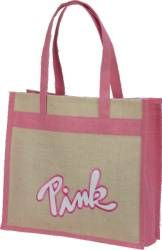 Promotional Tote Bags, Custom Cinch Sacks, Pad Folios, Promotional Bags, Logo Back Packs, Imprinted - Eplic Pink tote bag - J-2315 CUSTOM - www.BagFrenzy.com - 888-259-9668