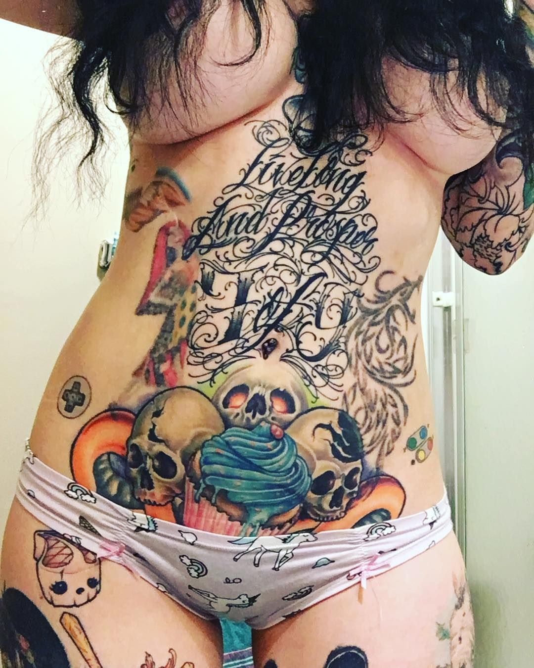 Inkdollmafia unicorn panties submission of the day for Nude women tattoo