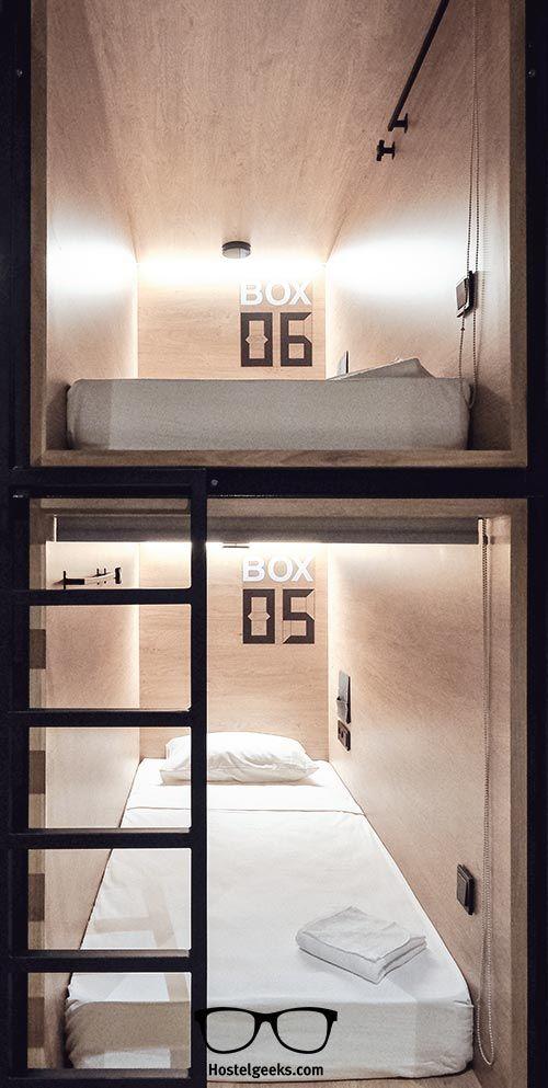 Small Hotel Room Design: InBox Capsule Hostel In St Petersburg