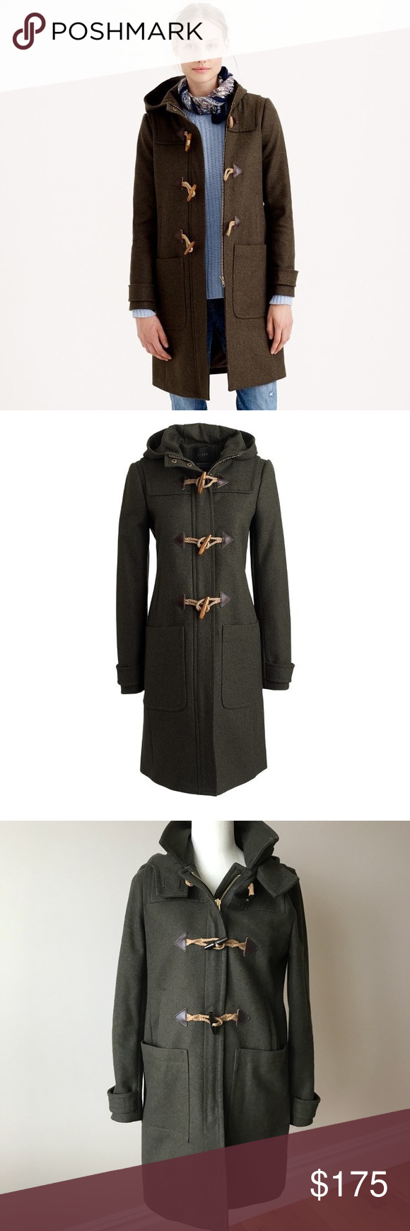 JCrew Melton Wool Toggle Coat JCrew Melton Wool To