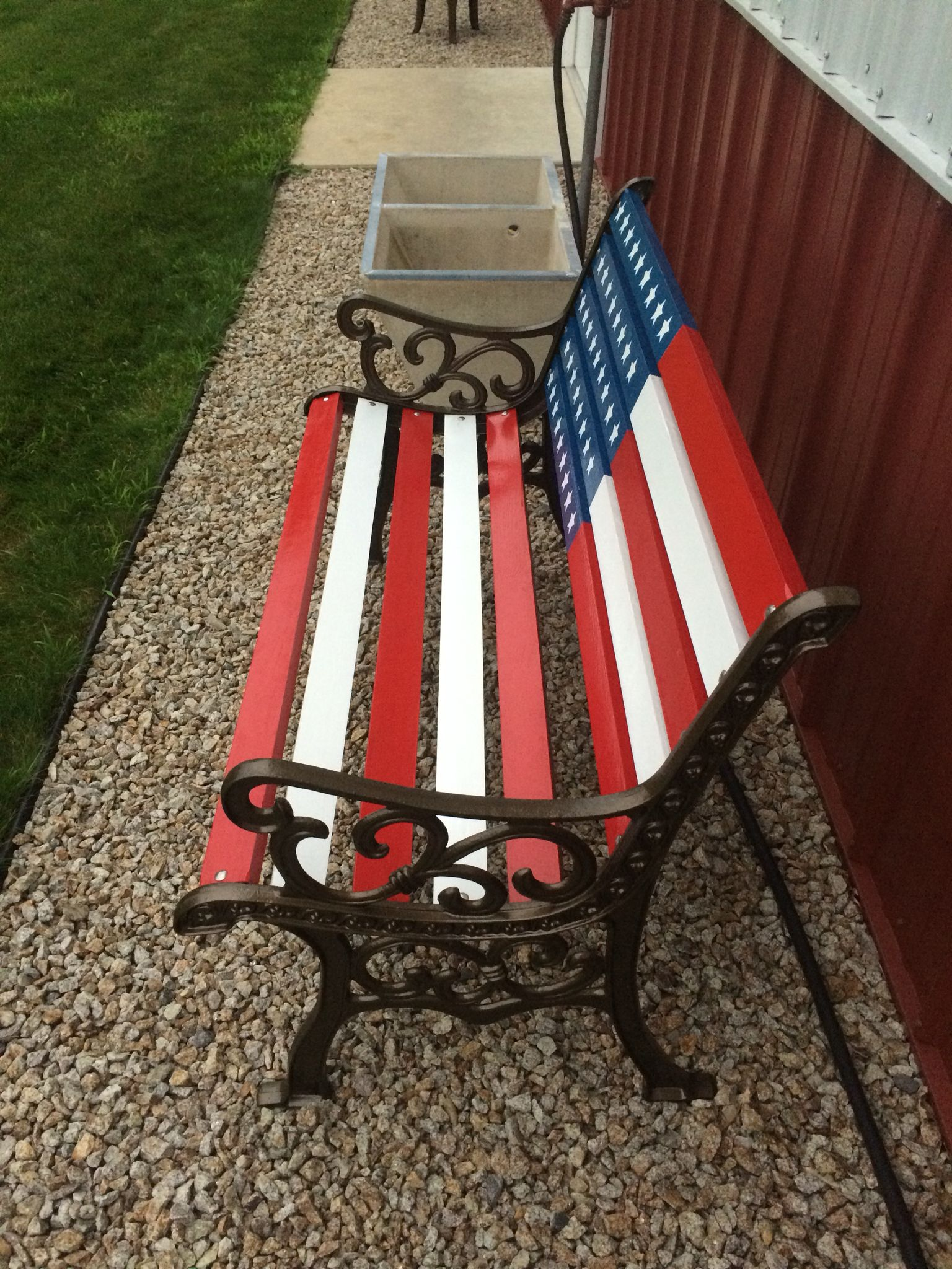 f80e7a22f531 American Flag Art · Finished bench. Furniture Projects