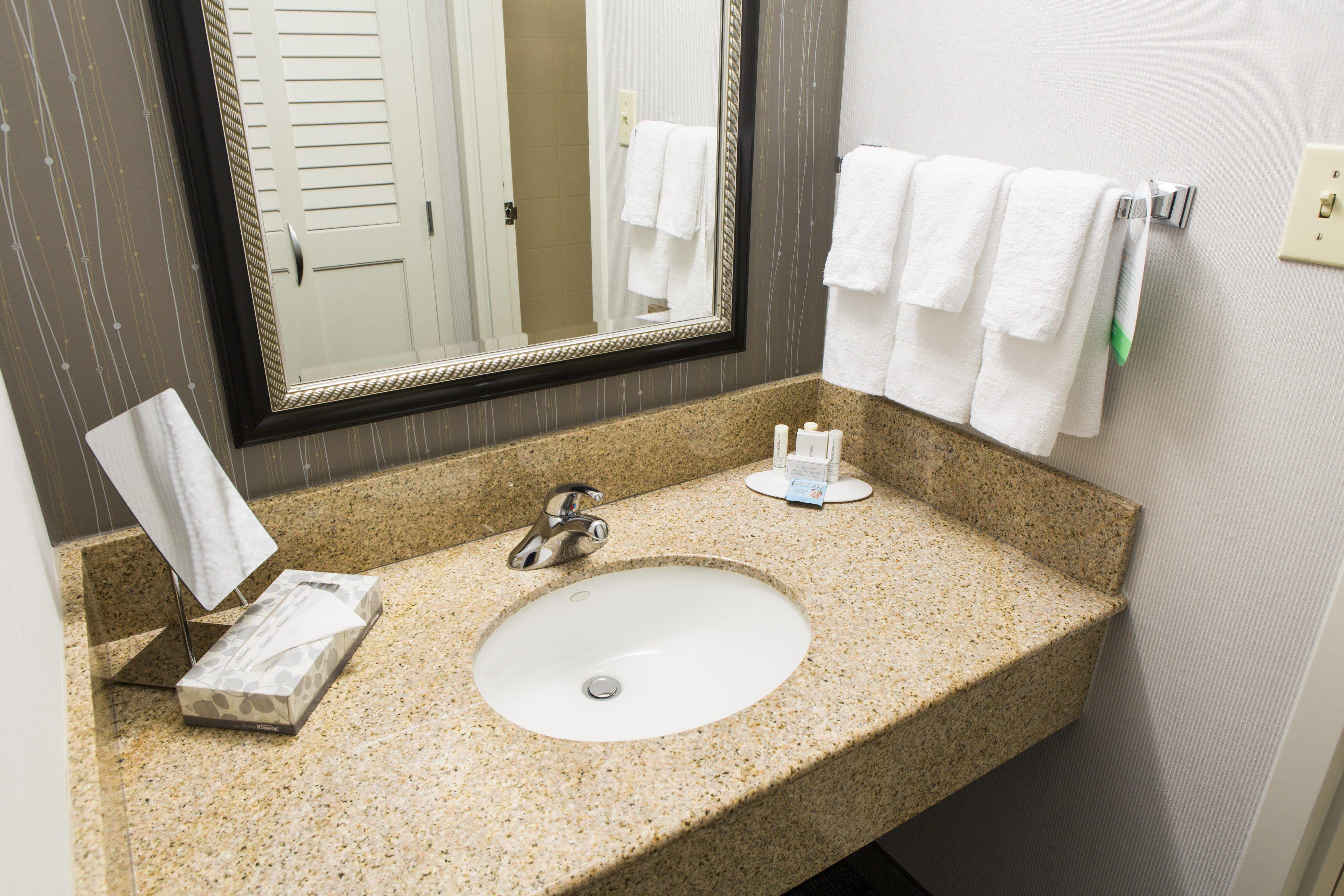 Courtyard Montgomery Guest Bathroom Vanity Hotels Travel Beautiful Guest Bathroom Framed Bathroom Mirror
