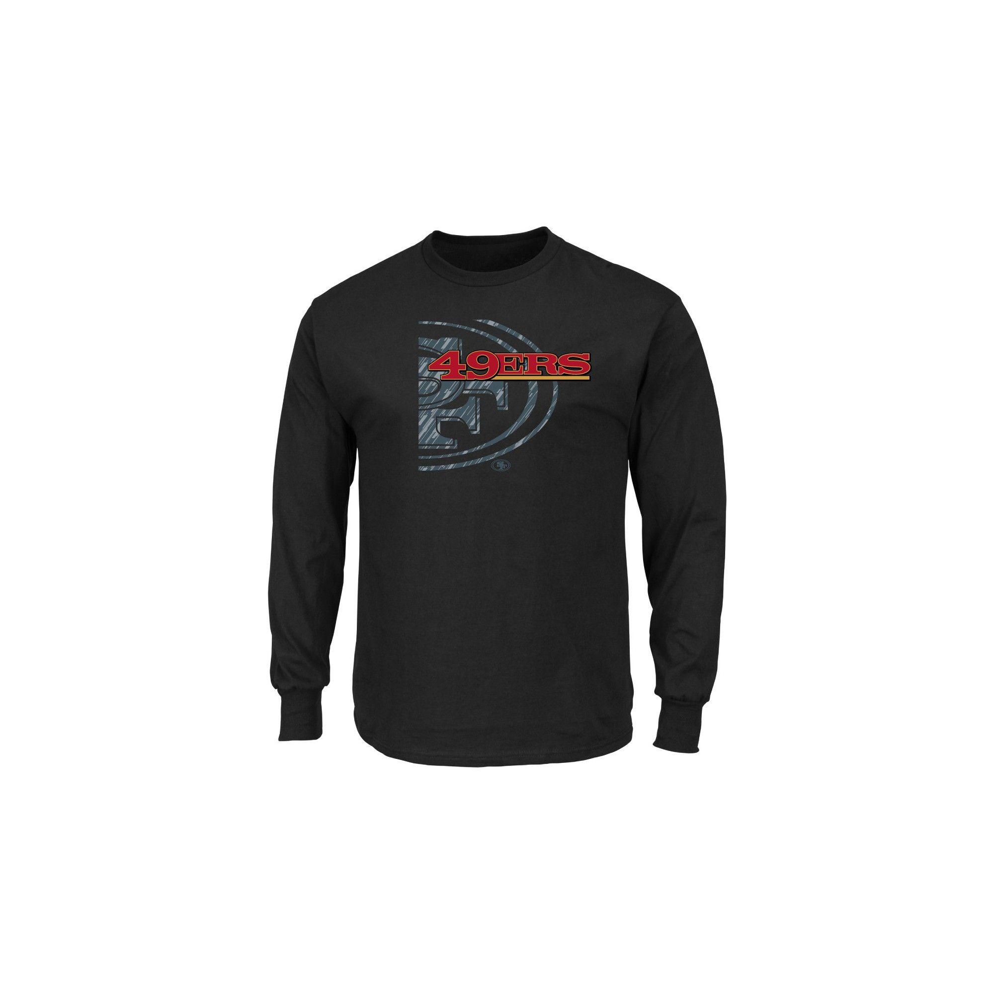 San Francisco 49ers Men s Point of Attack Black Long Sleeve T-Shirt ... 64d8a4e47