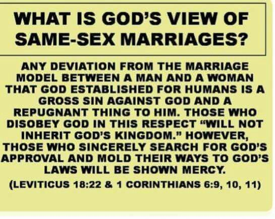 God s laws and sex