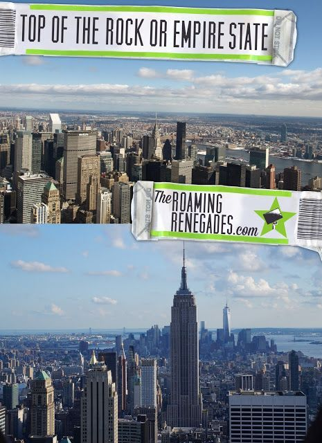 The Top of The Rock vs The Empire State Building! Which to ...