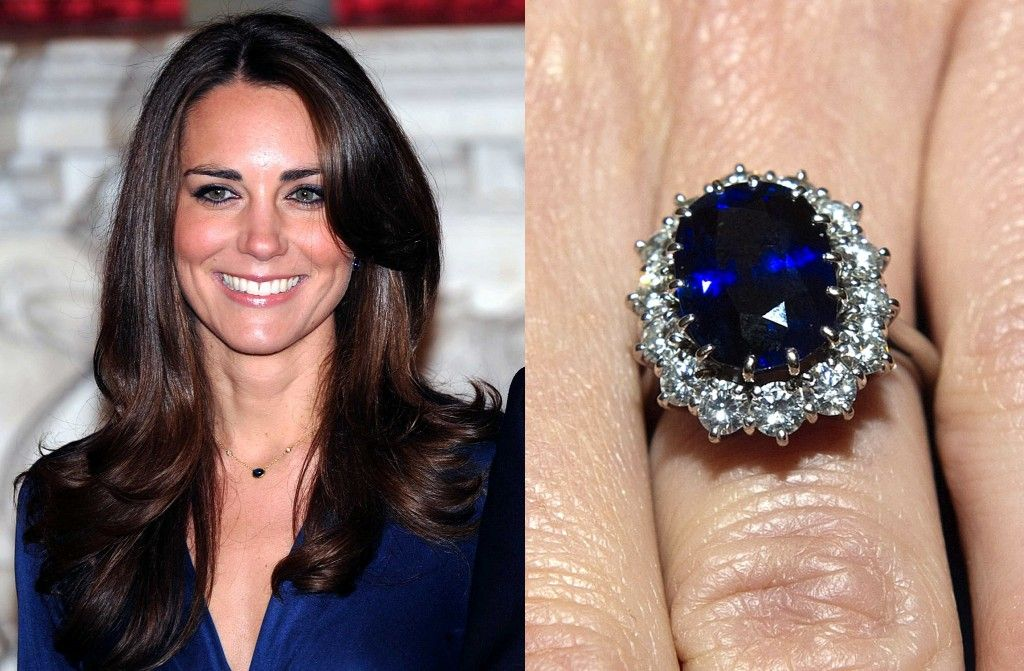 Kate Middleton's stunning sapphire engagement ring, which