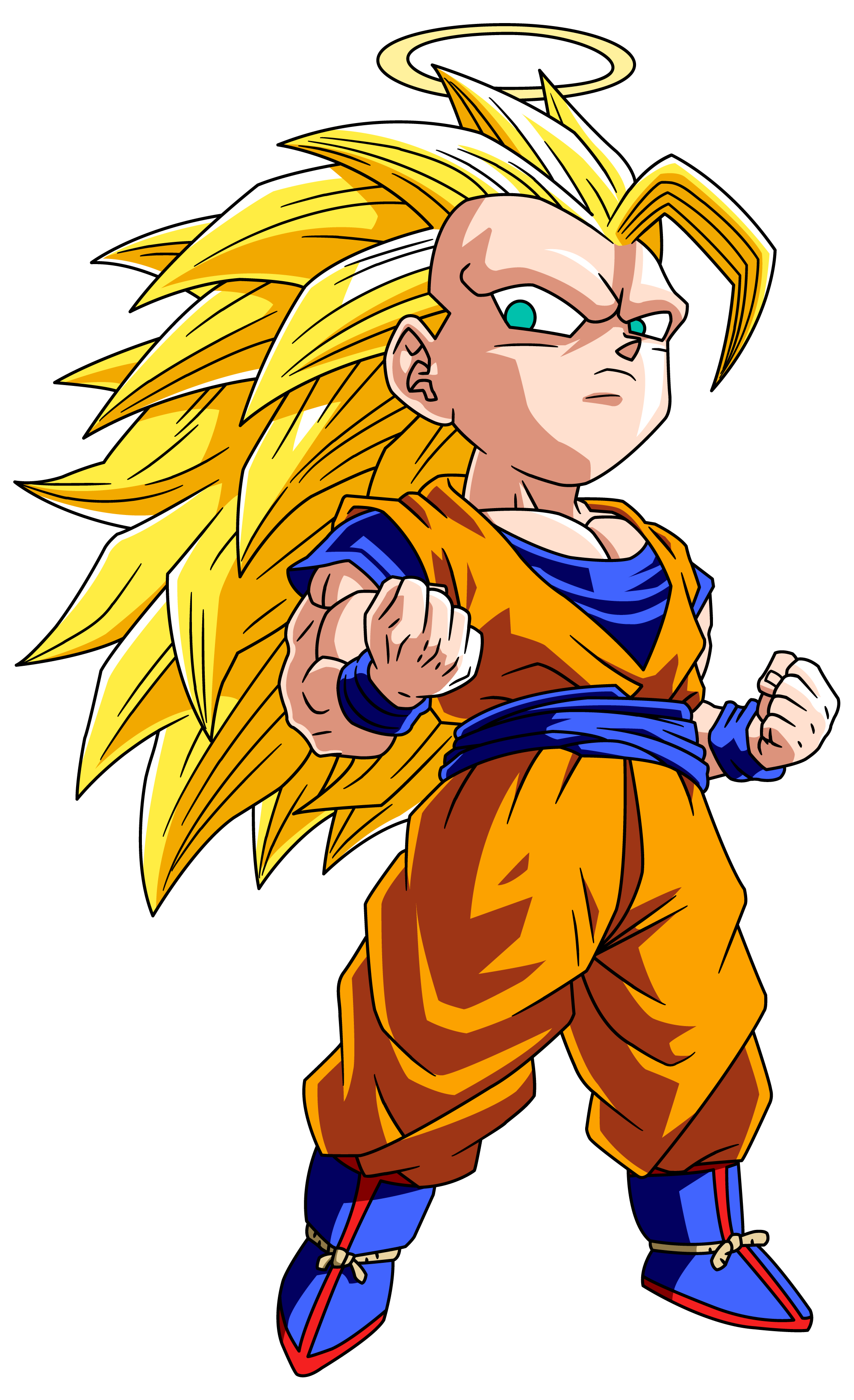 Cute Little Super Saiyan 3 Goku 3 Visit Now For 3d Dragon Ball Z Shirts Now On Sale Chibi Dragon Chibi Goku Dragon Ball Goku
