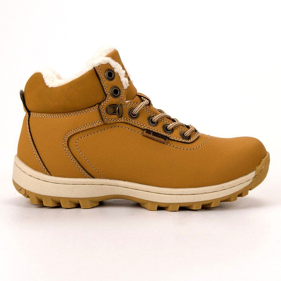 Trekkingowe Damskie Axboxing Ax Boxing Zolte Ocieplane Buty Trekkingowe Trekking Shoes Hiking Boots Women Shoes