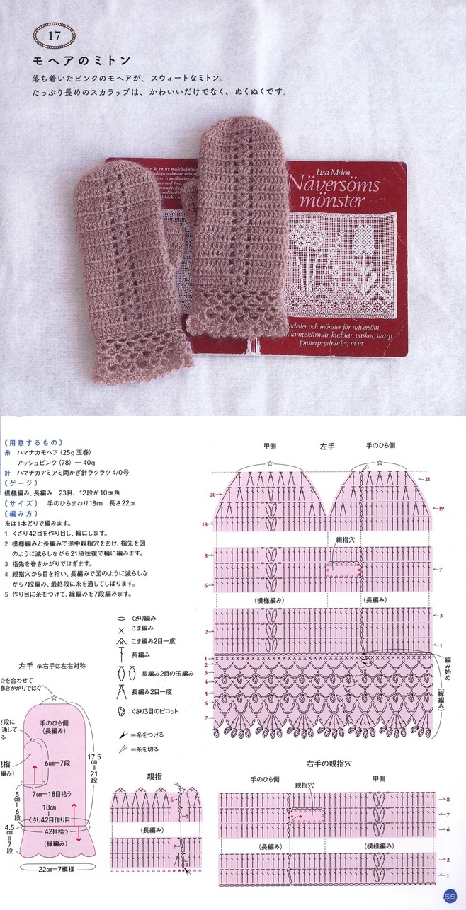 easy crochet mittens | guantes y manoplas | Pinterest | Guantes ...