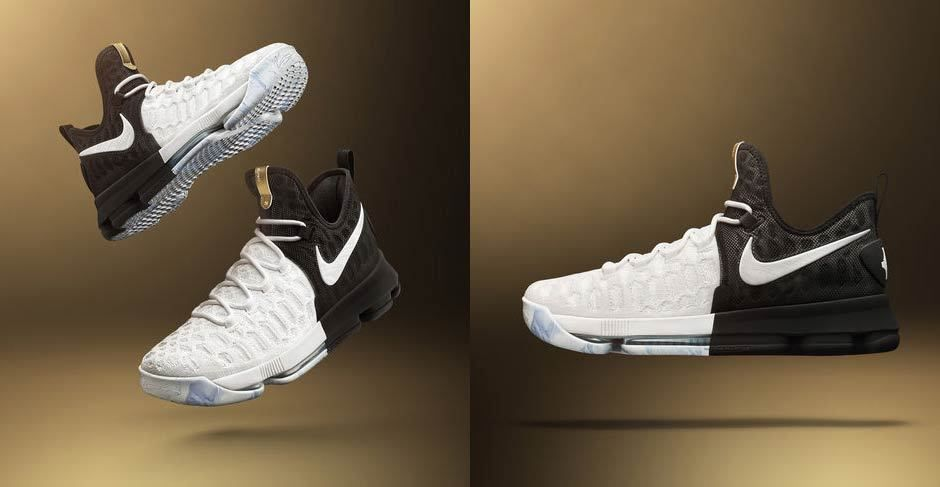 sale retailer 69886 00b15 Nike Zoom KD 9 BHM GOLD Black History Month White 860637-100 Kevin Durant  sz 9  fashion  clothing  shoes  accessories  mensshoes  athleticshoes  ad  (ebay ...