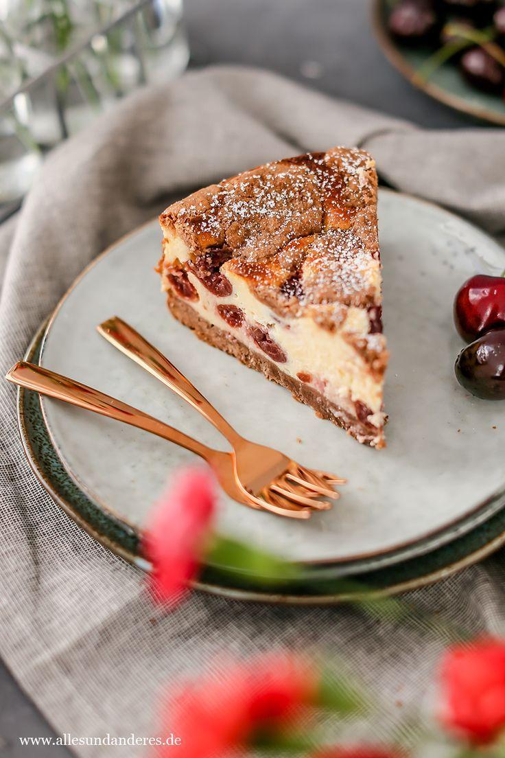 Sommerlicher Kirsch Quark Kuchen Mit Schokotupfen Rezepte Kuchen Lecker