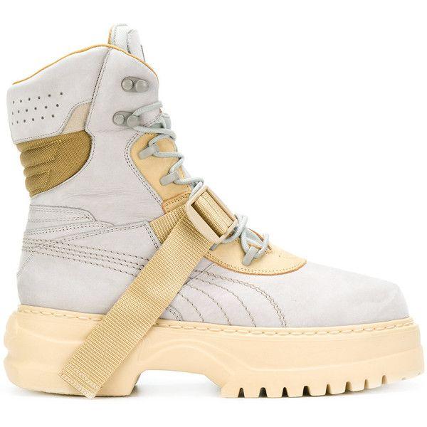 0371b52c601e4e Fenty X Puma Winter boots ( 660) ❤ liked on Polyvore featuring men s fashion
