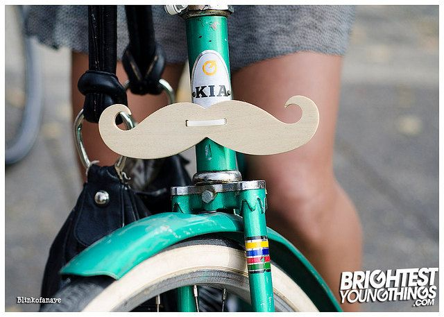Wooden Handlebar Mustache for Bicycle by SewellWorks on Etsy