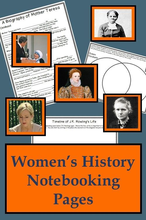 Photo of Women's History Notebooking Pages Bundle