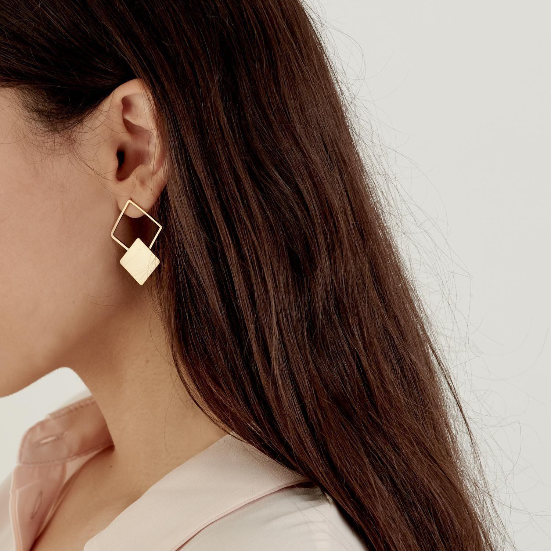 Statement Jewelry Boho Earring Modern Earrings Long Earrings Unique Earrings Gold Statement Earrings Long Wire Earrings Gold Earrings