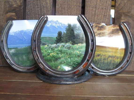 Used Horseshoe Picture Frame Country Decor Rustic Decor