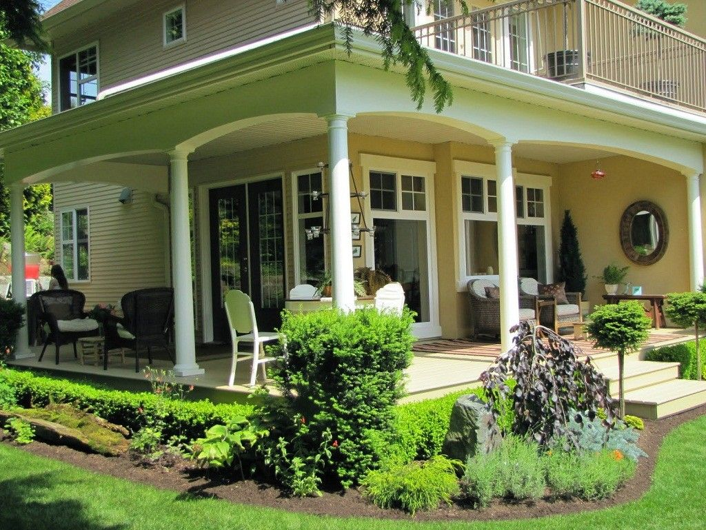 Exterior front porch agreeable design ideas using cylinder for Exterior column design ideas