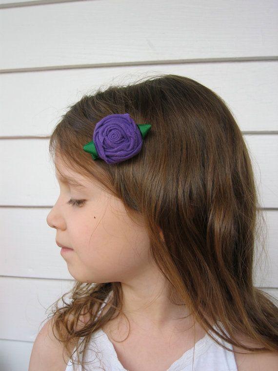 Rose Hair Clip / Embellishment / Adornment by WaterBabiesArts, $5.00