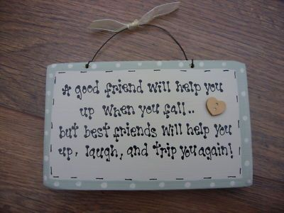 Shabby Chic Personalised Wooden Chic Plaque Best Special Friend