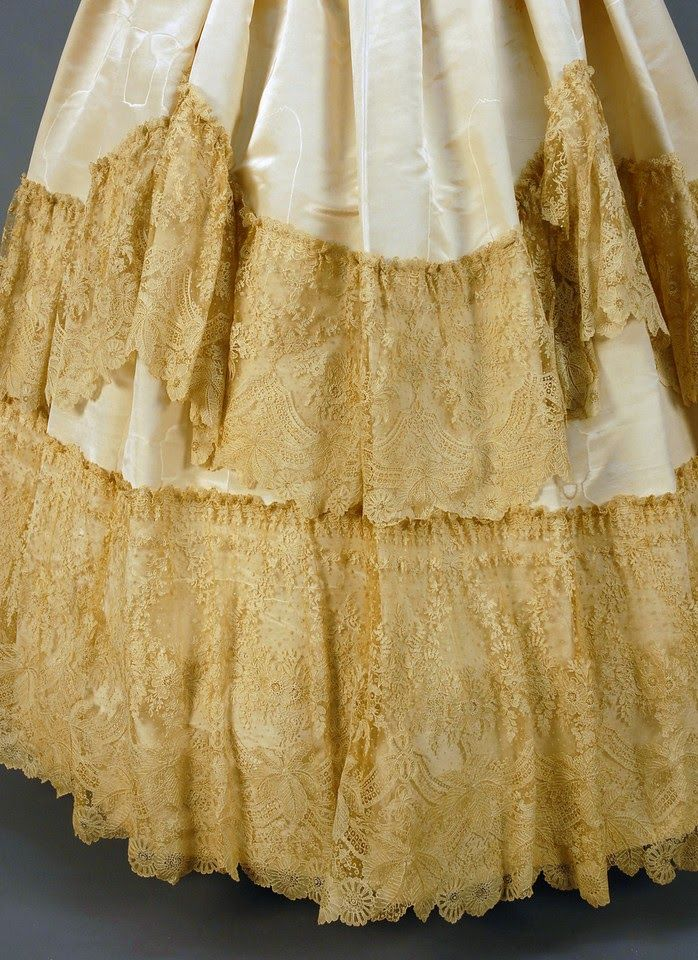 Moire silk gown, 1855-60 | In the Swan's Shadow
