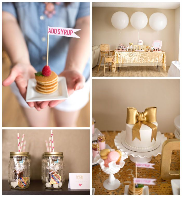 Pj's & Pancakes Themed 1st Birthday Party (karaspartyideas
