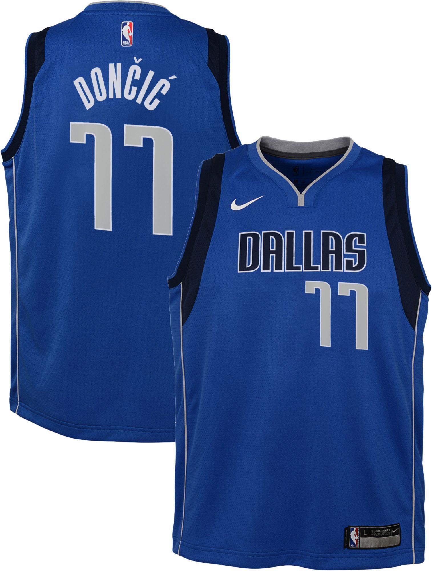 721f2f3b5d7 Nike Youth Dallas Mavericks Luka Doncic  77 Royal Dri-FIT Swingman Jersey