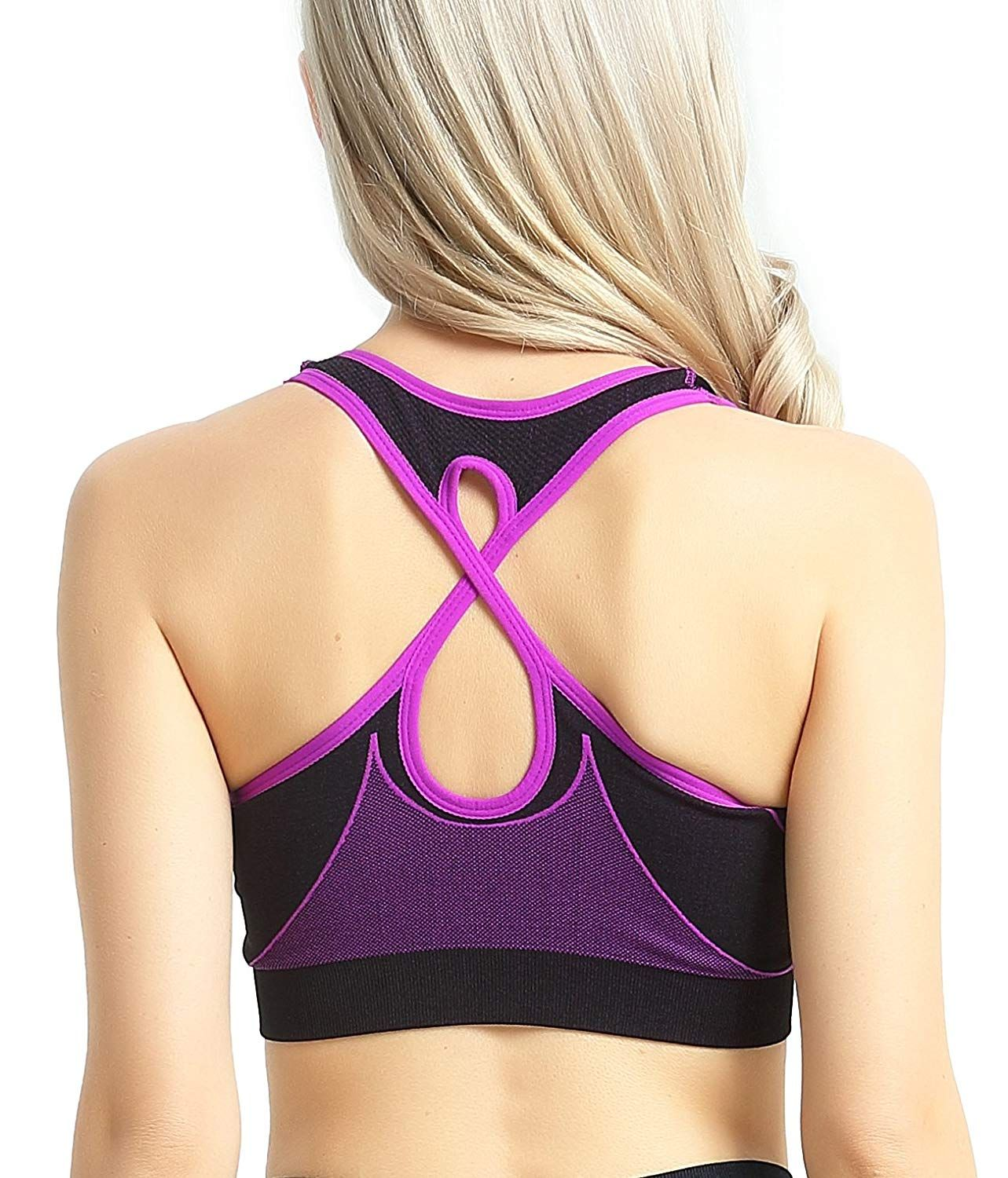 e33831f2c989f Capricia O dare Women s Sports Bras Seamless Racerback Wireless Padded for Workout  Yoga at Amazon