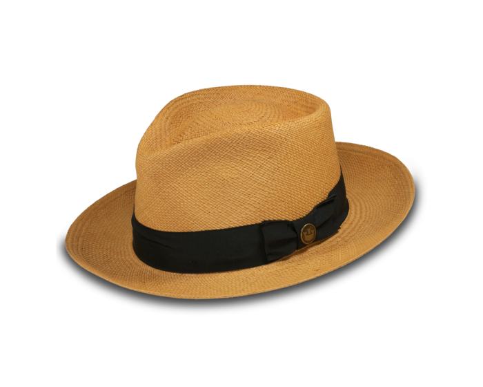 6a98c3d7b44 Big John - Teardrop crown Panama fedora with 2 3 4