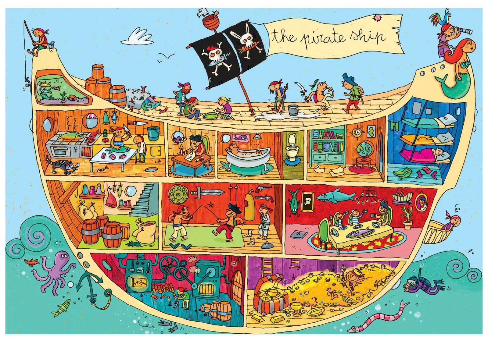2014 06 hvad laver piraterne enfants pinterest pirate cole et vocabulaire. Black Bedroom Furniture Sets. Home Design Ideas