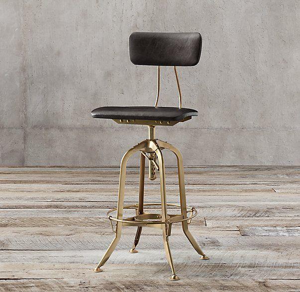 Ashley Furniture Toledo: 1940s Vintage Toledo Leather Bar Chair