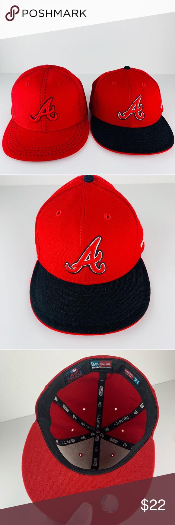 Men S Atlanta Braves New Era Navy Red Team Color 9fifty Snapback Hat In 2020 Atlanta Braves Red Team Braves