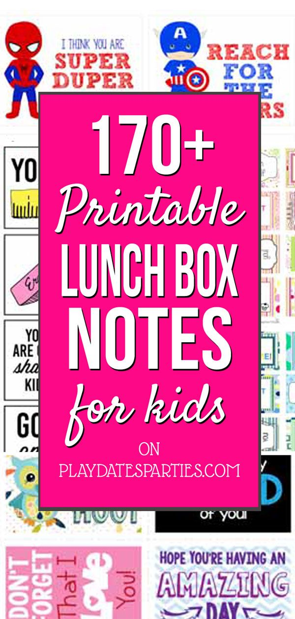 Free Printable Lunch Box Notes Perfect for the New School Year images