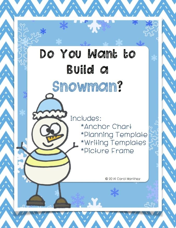 Do You Want To Build A Snowman Winter Writing Fun Mrs