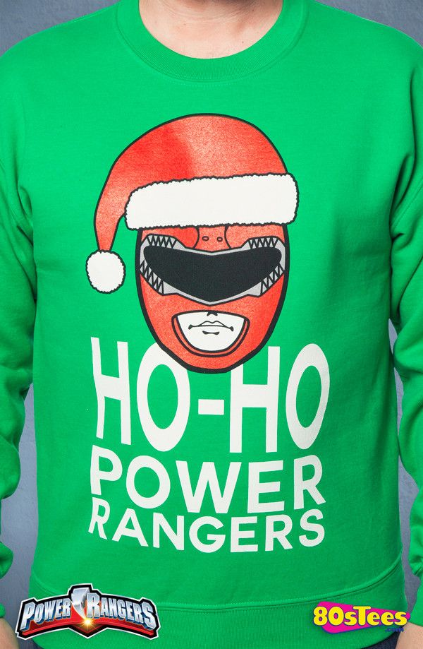 Power Rangers Christmas Jumper.Power Rangers Christmas Faux Sweater Power Rangers Mens