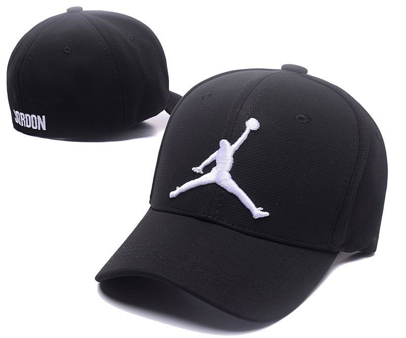 a303ae12112d2e Men s   Women s Nike Air Jordan White Jumpman Embroidery Logo Flexfit Hat -  Black
