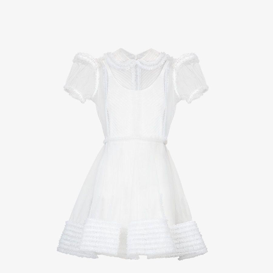 White Tulle Dress Dress Fendi Fendi Online Store Fendi Dress White Tulle Dress Dresses [ 900 x 900 Pixel ]