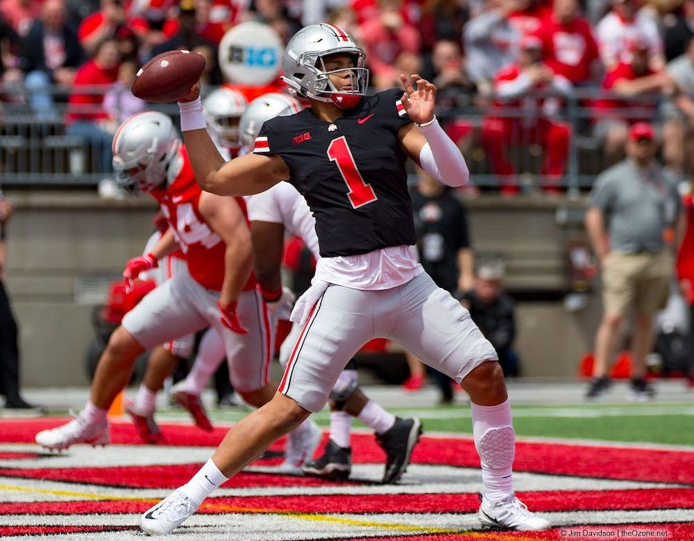 Ranking Ohio State S 2019 Playmakers On Offense No 3 Qb Justin Fields Ohio State Football Ohio State Justin Fields