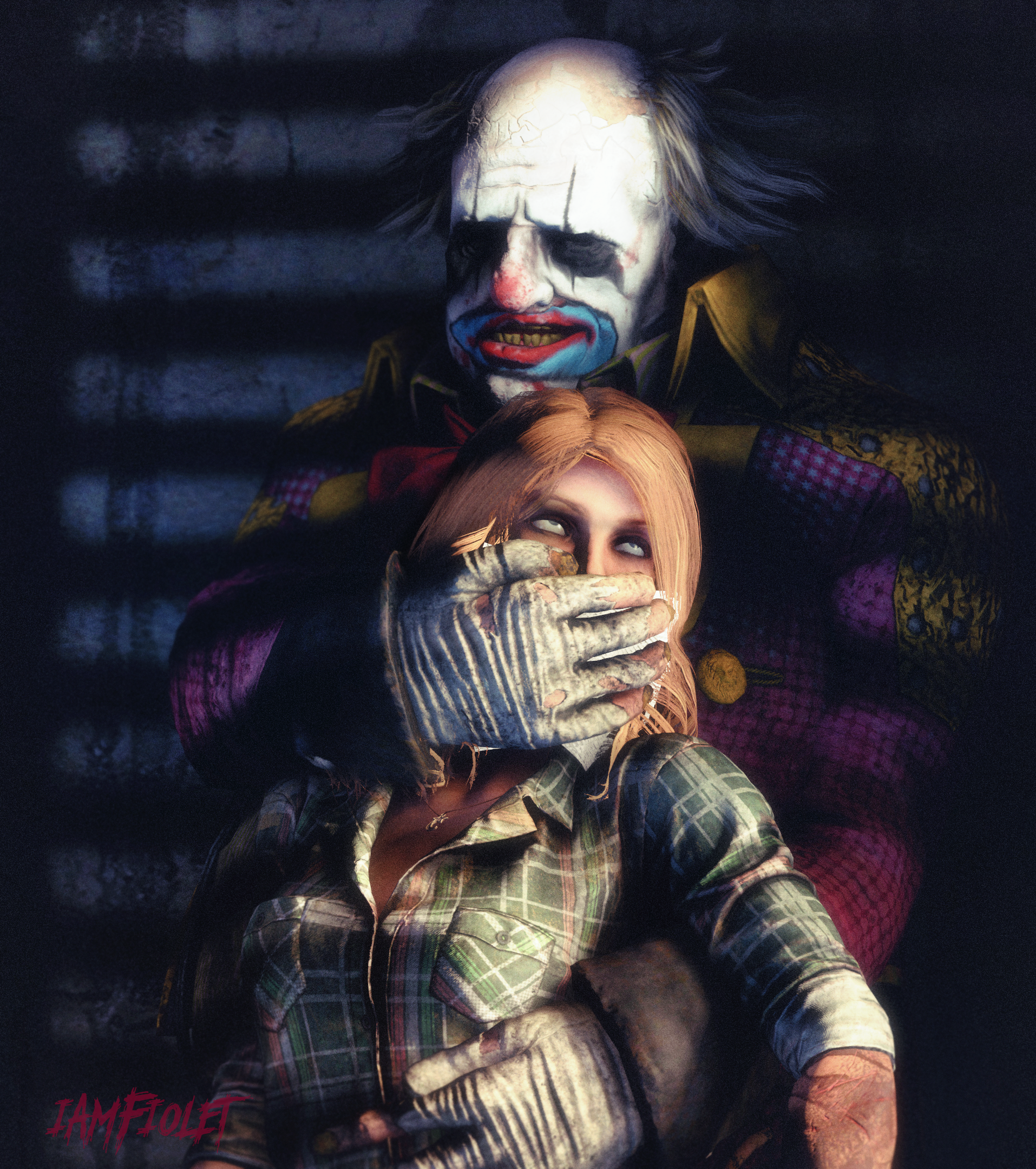 The Clown & Kate by iamFiolet Cool paintings, Character