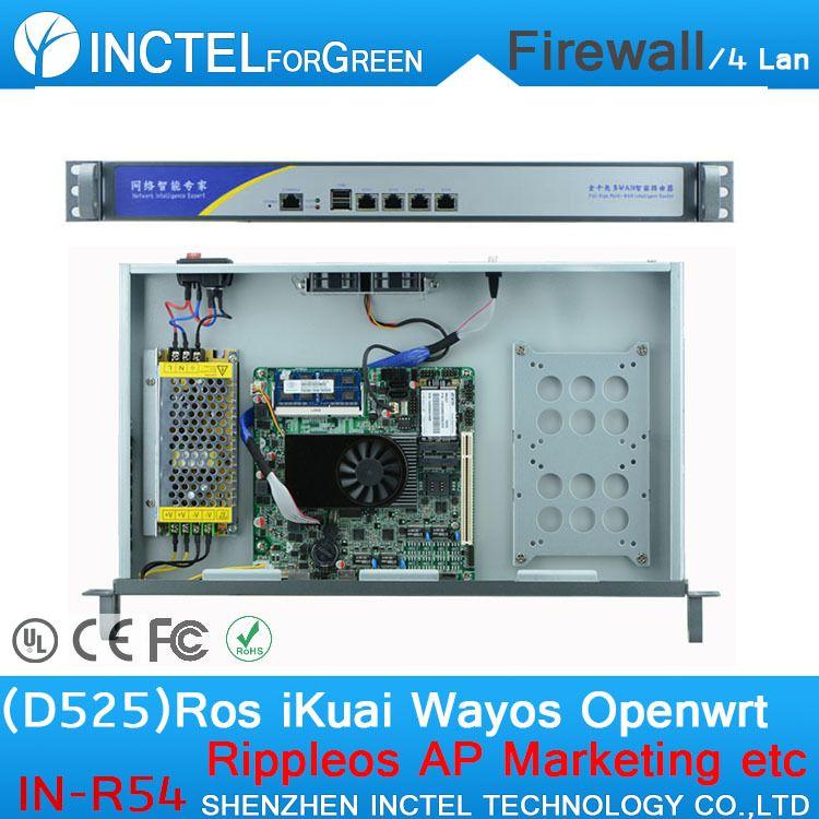 Intelligent flow control four gigabit lan firewall router
