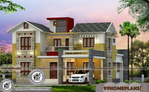 Budget Home Plans In Kerala Style 3d House Elevation Models Design Kerala House Design House Plans Bungalow House Design