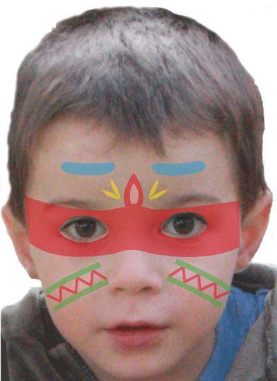 Maquillage enfant Indien , Tuto maquillage enfant , Loisirs créatifs