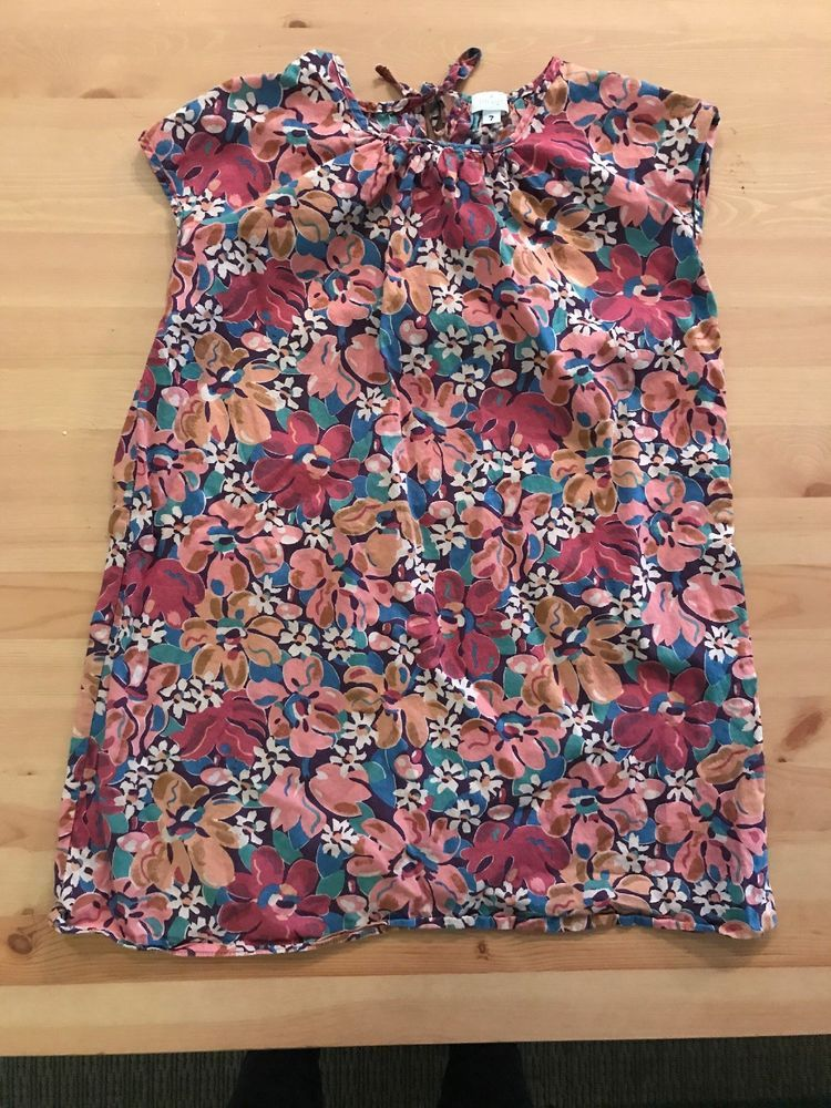 BNWT GIRLS COLOURFUL FLORAL COTTON DRESS SIZE 3 TO 10