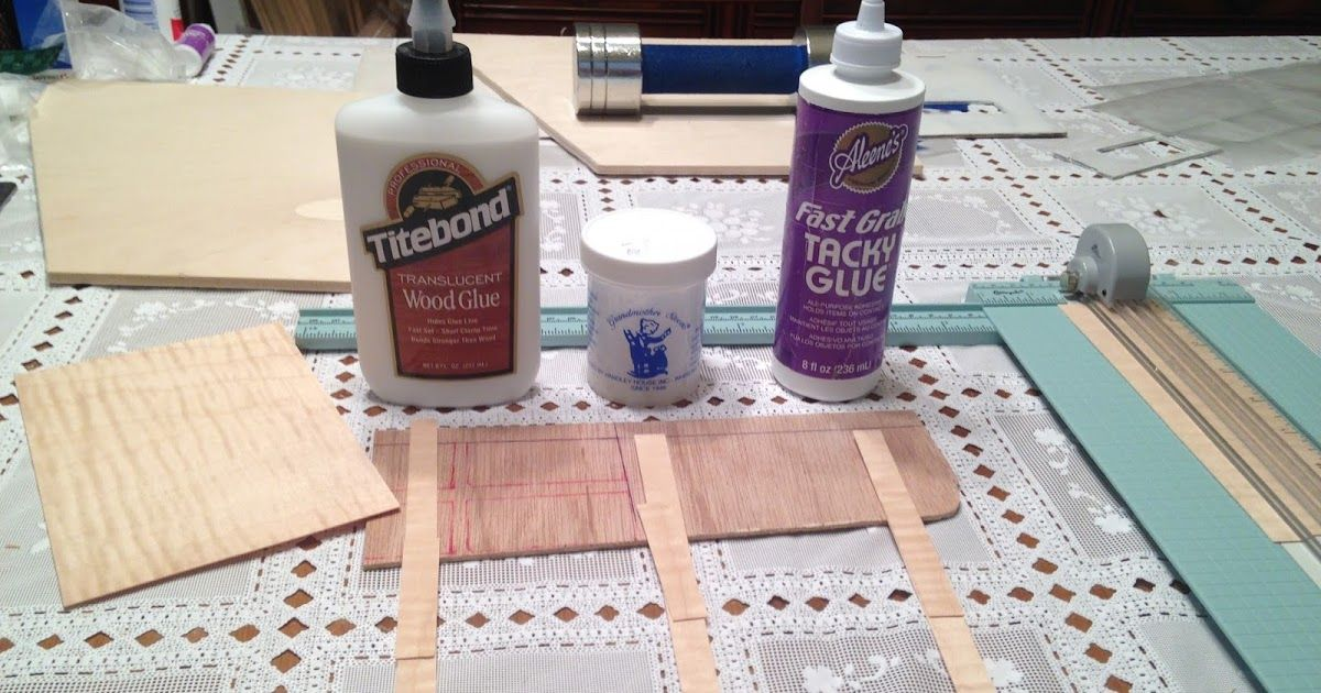 Best adhesive for thin wood veneer miniature projects