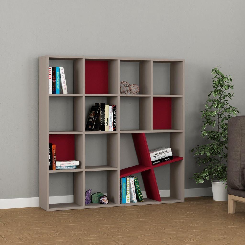 Brian Bookcase 49 X 9 Shelving Unit Bookshelf Authenturkish