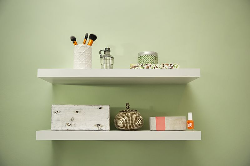 How To Install Floating Shelves The Home Depot Blog Floating Shelves Shelves Diy Shelves