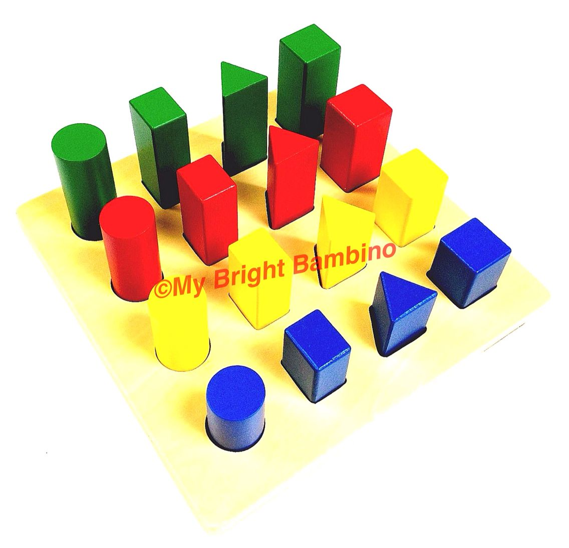 Coloured Geometric Sorting Board Learning Shape Colour
