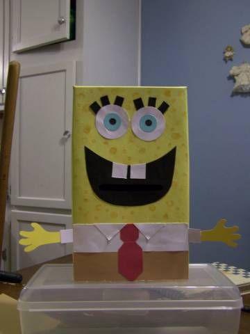 Sponge Bob Valentine Box By LSCRTR   Cards And Paper Crafts At  Splitcoaststampers
